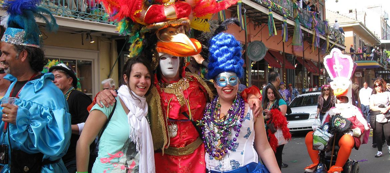 Le prétexte est parfait pour découvrir la culture louisianaise lors des festivités du Mardi gras.
