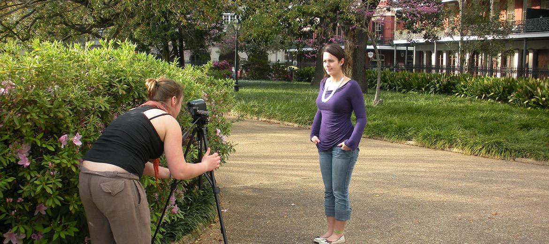 Lors de leur séjour d'études en Nouvelle-Orléans, les étudiants réalisent des documentaires.