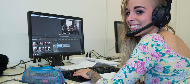 Photo prise lors du cours en Production vidéo