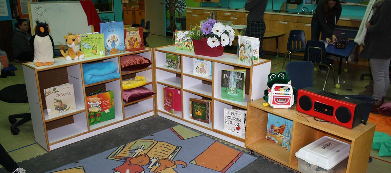 Coin lecture pour les enfants de 4 à 5 ans