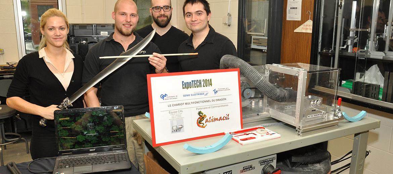 Conception d'une machine à usiner une tige à épée de styromousse