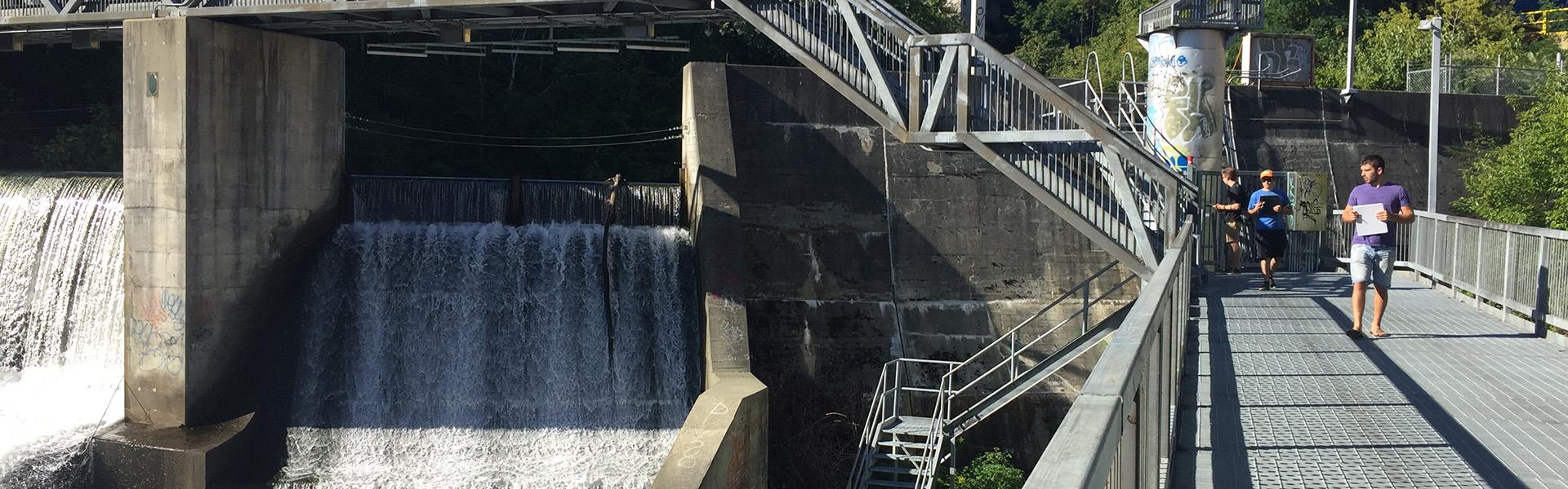 Travaux d'inspection barrage